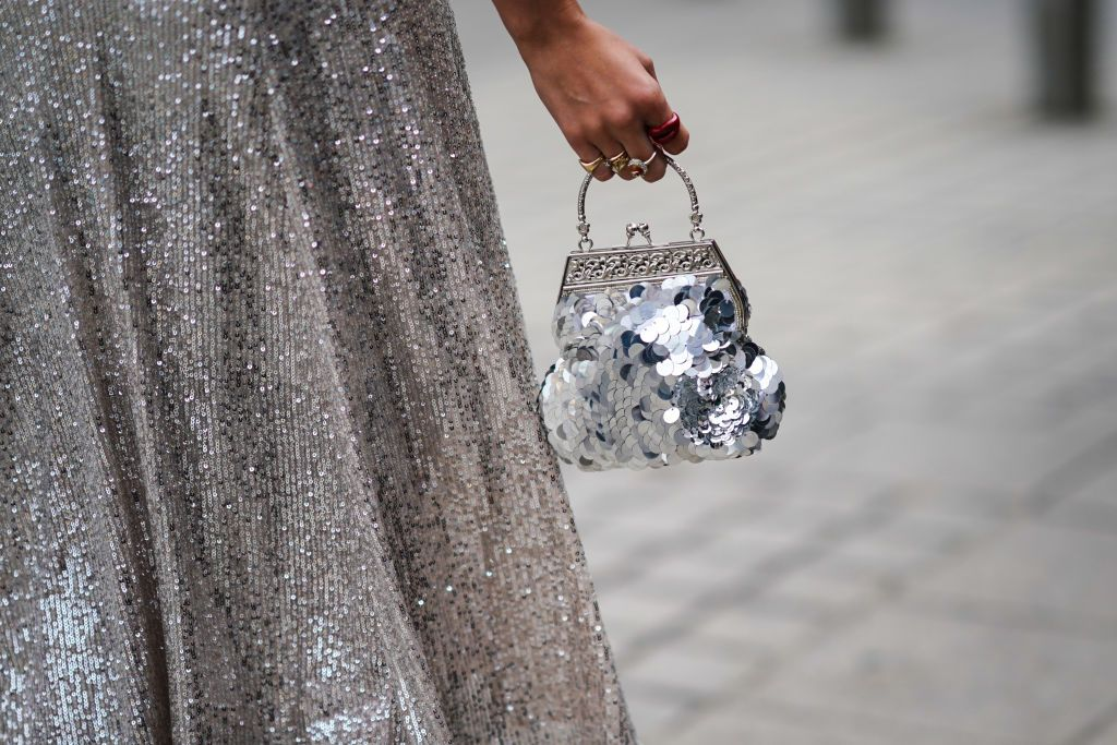 Silver clutch bags are about to be the accessory you can't live without