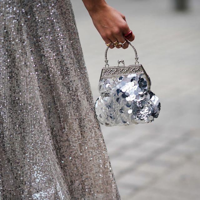 silver clutch bags
