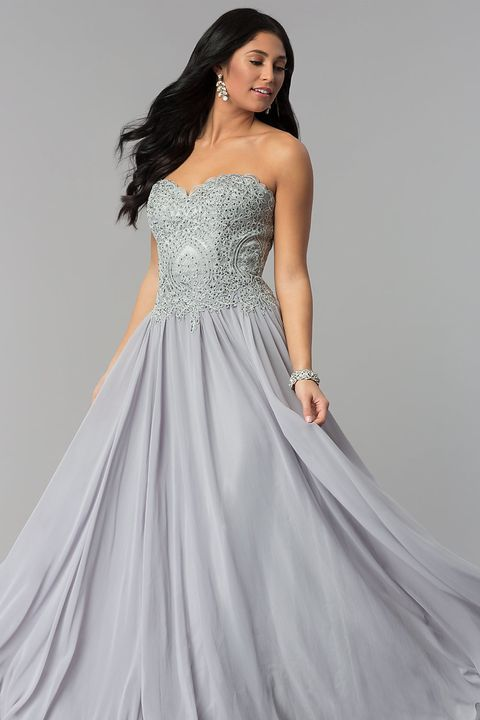 17 Best Gold, Silver and Metallic Prom Dresses 2018 - Cute