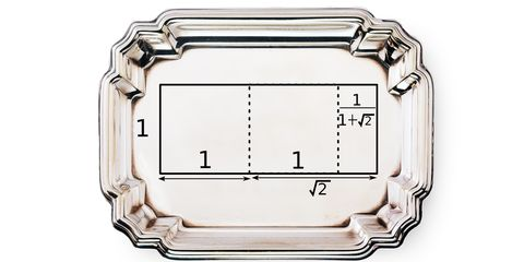 Rectangle, Serving tray, Metal,