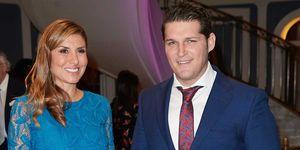 Manu Tenorio y Silvia Casas en la cena solidaria de la fundación Querer