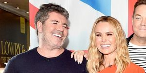 Simon Cowell and Amanda Holden in February 2019