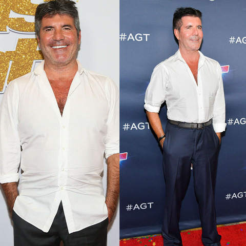 best celebrity weight loss transformations: simon cowell