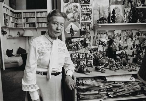 Simone de Beauvoir at Home in Paris
