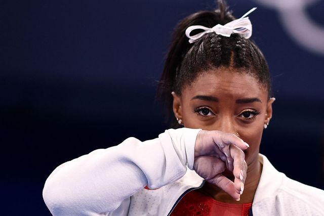 simone biles, durante las competiciones de gimnasia artística en tokio 2020