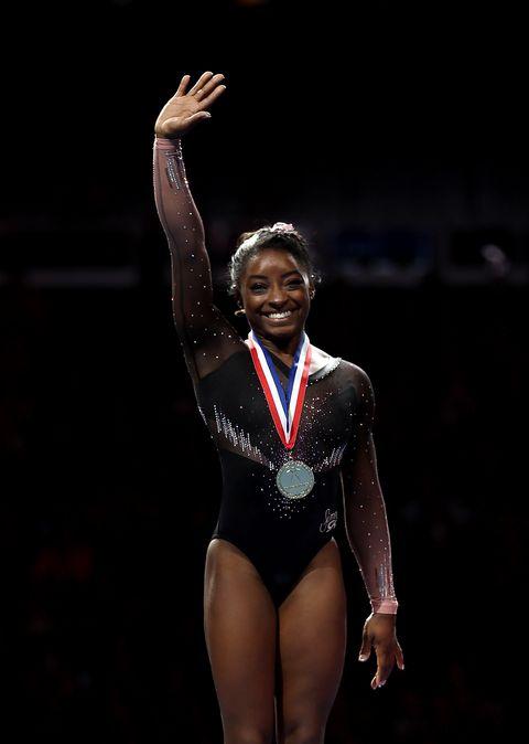 Simone Biles en el Campeonato Mundial de Gimnasia de 2019