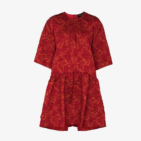 simone rocha x browns 50 floral cloqué mini dress