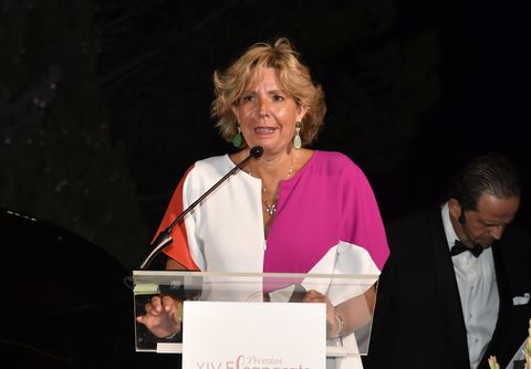 simoneta gomez acebo during gala awards ''escaparate'' in ronda 28 august 2020