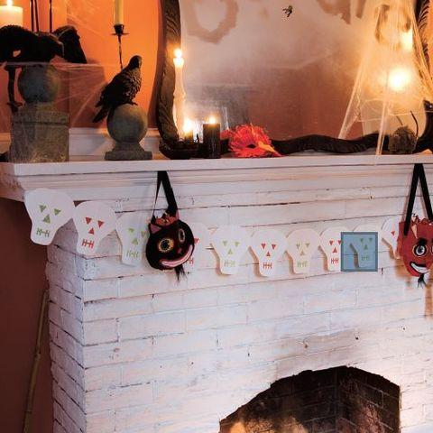 simple halloween crafts skeleton garland