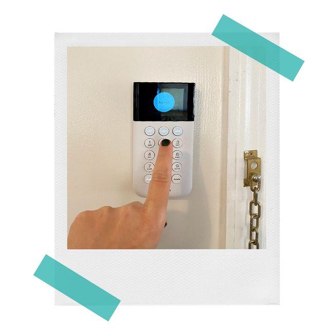simplisafe keypad by door