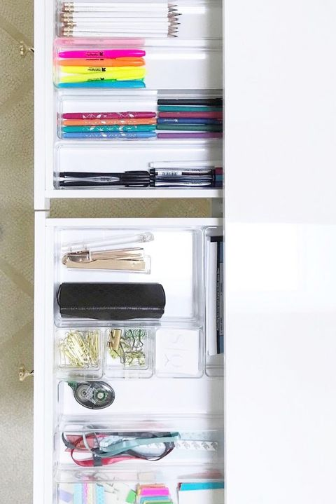 Organized office drawers