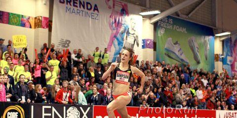 Jenny Simpson at 2014 New Balance Indoor Grand Prix