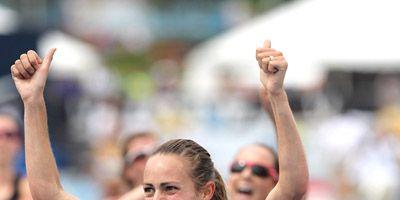 Jenny Simpson after winning 2013 national 5K title