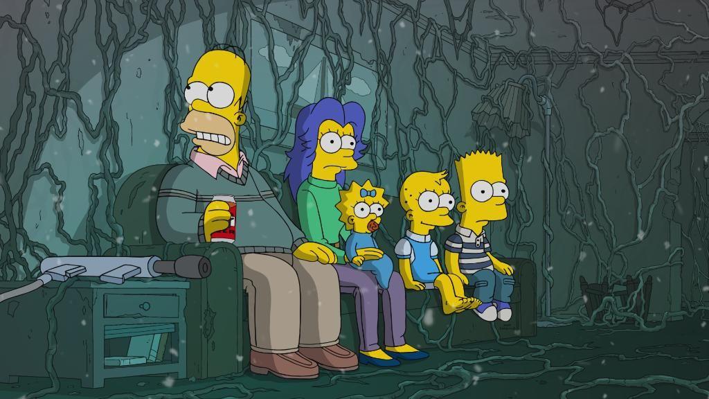 Stranger Things en Los Simpson - Capítulo 666 Casa Árbol Terror