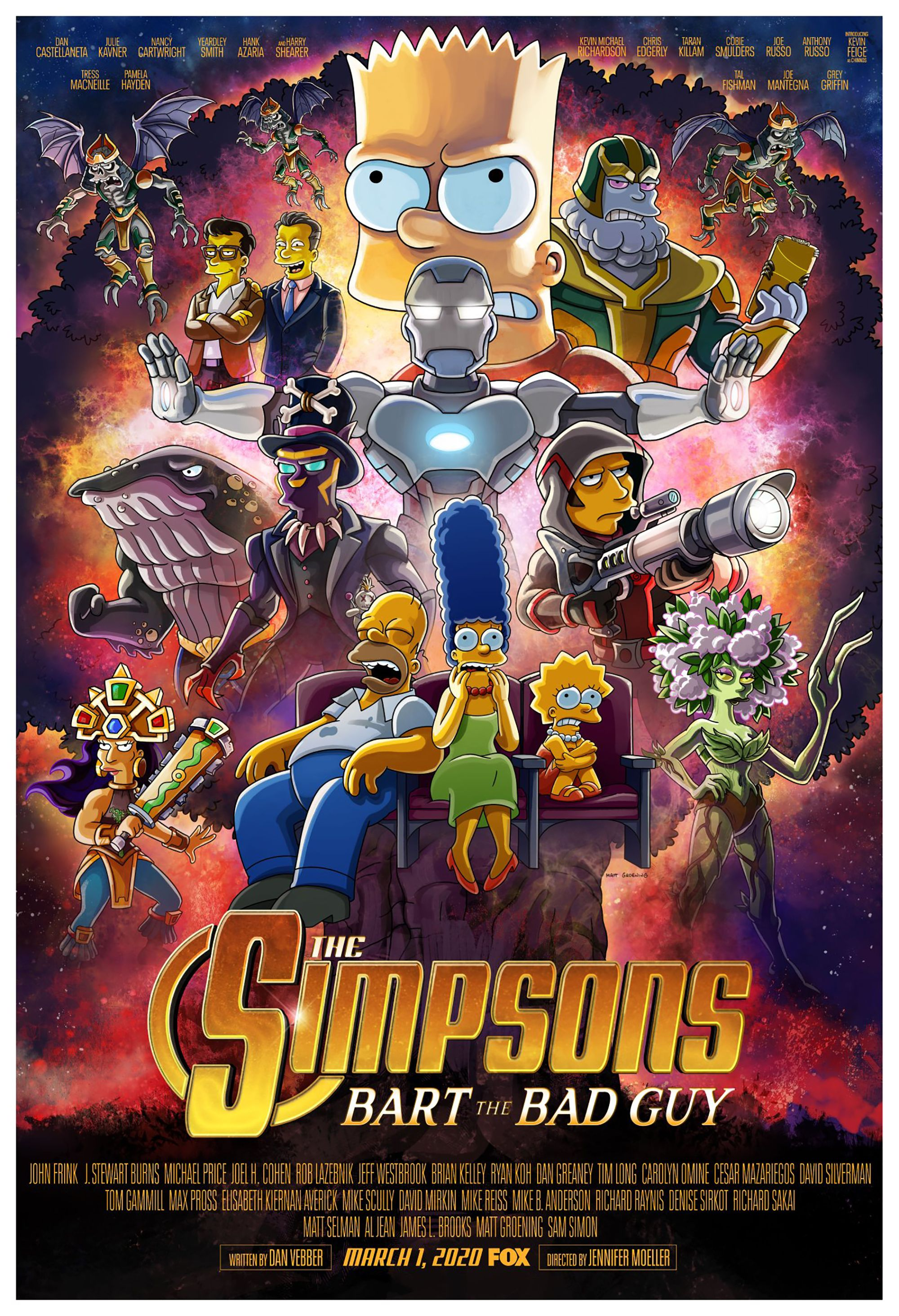 El póster de 'Los Simpson' a lo 'Vengadores: Endgame'