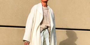 Abrigo blanco zara viral