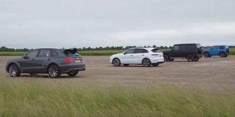 W12 vs. V8: ¿Vencerá el Bentayga Speed a los Cayenne Turbo y AMG G 63?