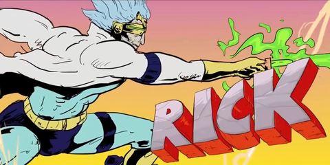 Rick en version anime