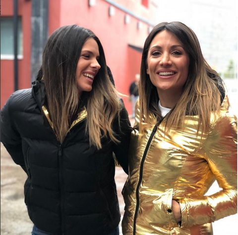 People, Yellow, Smile, Outerwear, Friendship, Jacket, Fun, Long hair, Event, Brown hair,