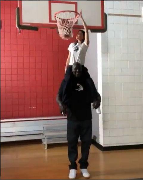 Basketball, Basketball hoop, Basketball moves, Basketball player, Basketball court, Shoulder, Basketball, Standing, Team sport, Joint,