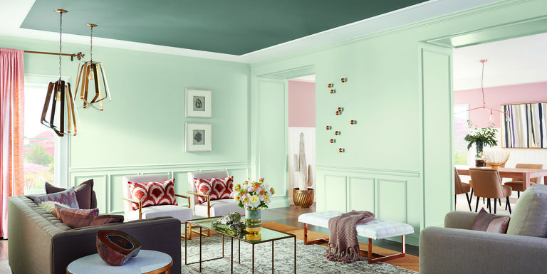 The 2018 color trends sherwin williams for Most popular living room paint colors 2017