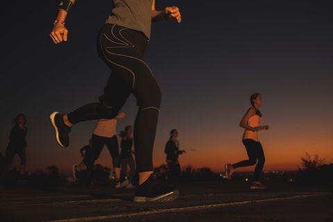 Sky, Running, Recreation, Fun, Night, Footwear, Sports, Cloud, Shadow, Exercise,