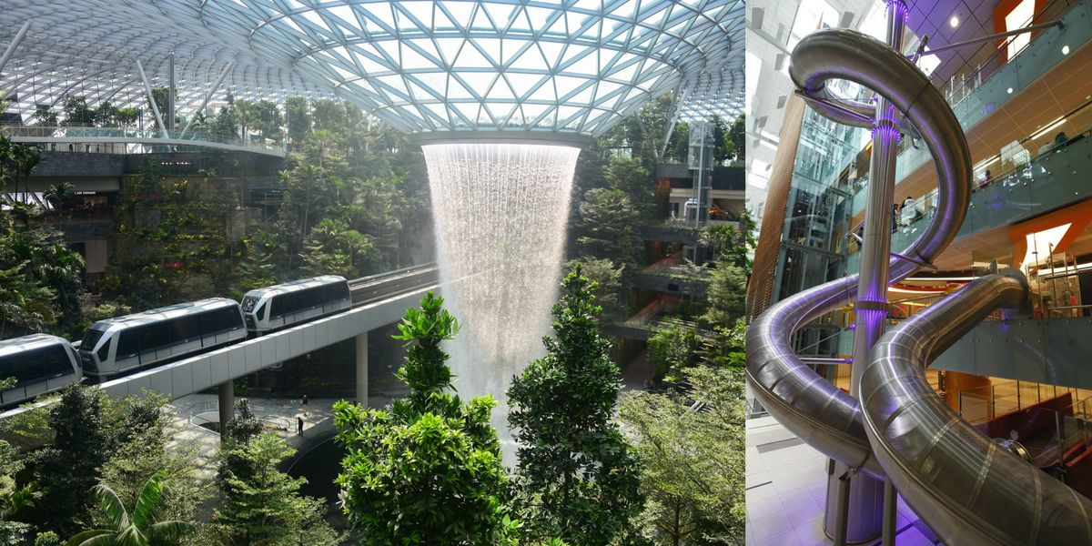 Singapore S Changi Airport Features A Giant Slide That Takes You To Your Gate