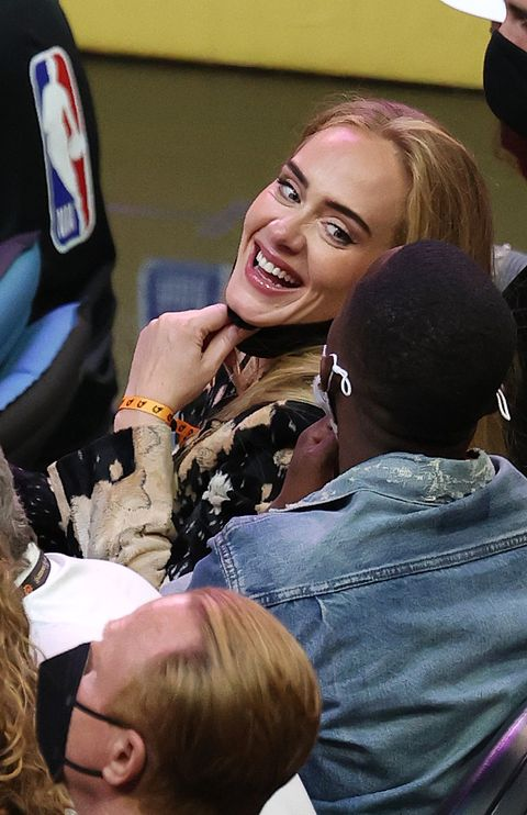 adele and rich paul at 2021 nba finals game five