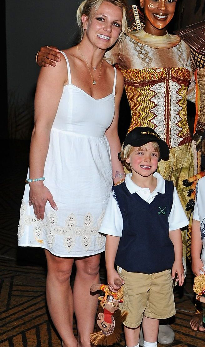 Britney Spears, Sean Preston, And Jayden James Attend Disney's THE LION KING At Mandalay Bay