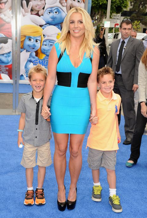 britney spears with her children in 2013