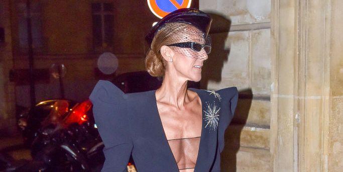 Celine Dion Wears Black Alexandre Vauthier Jumpsuit Celine Dion