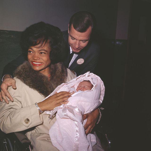 eartha kitt with her husband and newborn daughter