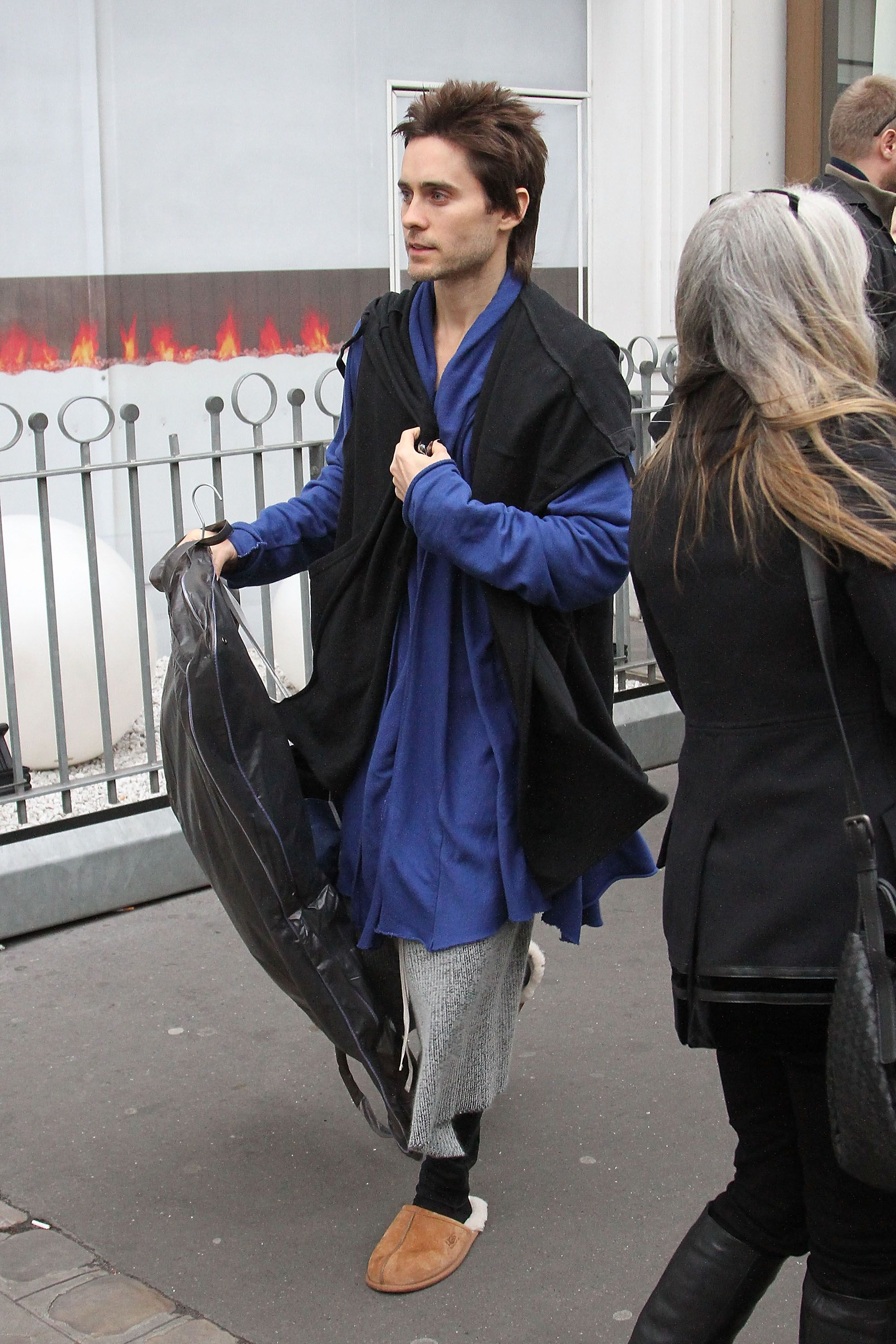 "Jared Leto Google ""Jared Leto house slippers"" and you'll find that the actor wears slippers in public quite often. His count might even rival that of Bieber's."