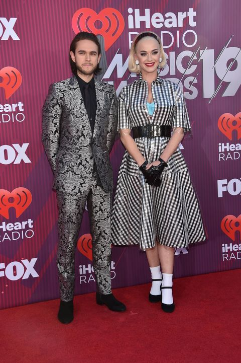 fd933aec4004 Katy Perry Wears Checkered Dress to iHeartRadio Music Awards 2019 ...