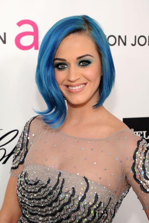 blue hair color ideas   katy perry