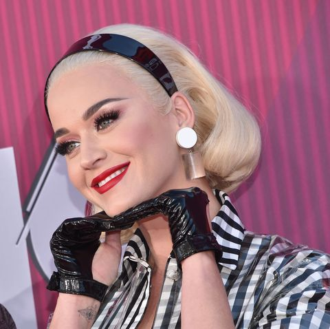 7d8268f48ef8 Katy Perry Went Retro in a Checkered Dress at the iHeartRadio Music Awards