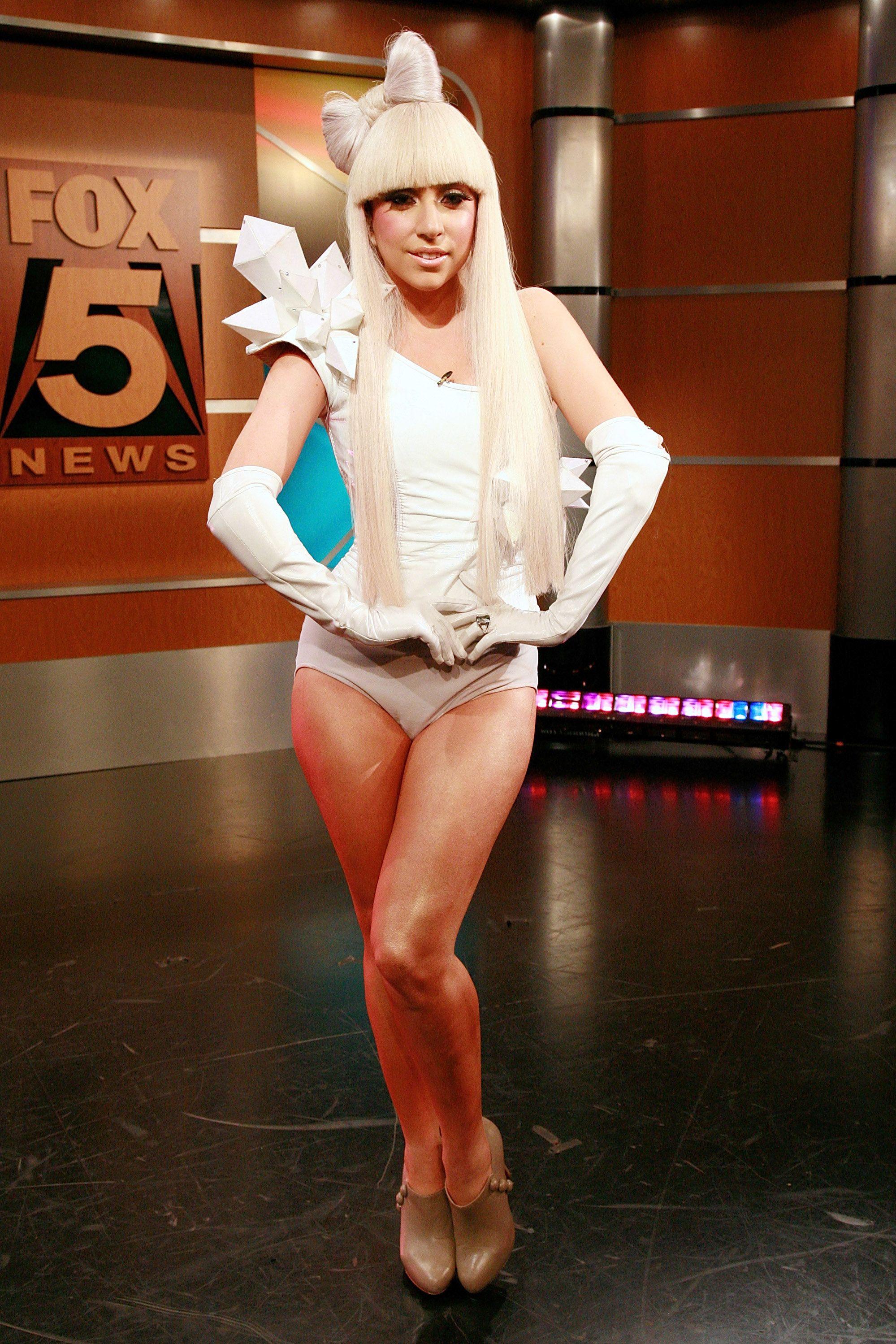 Lady Gaga and Chris Jericho Visit FOX's 'Good Day New York' - Octobe