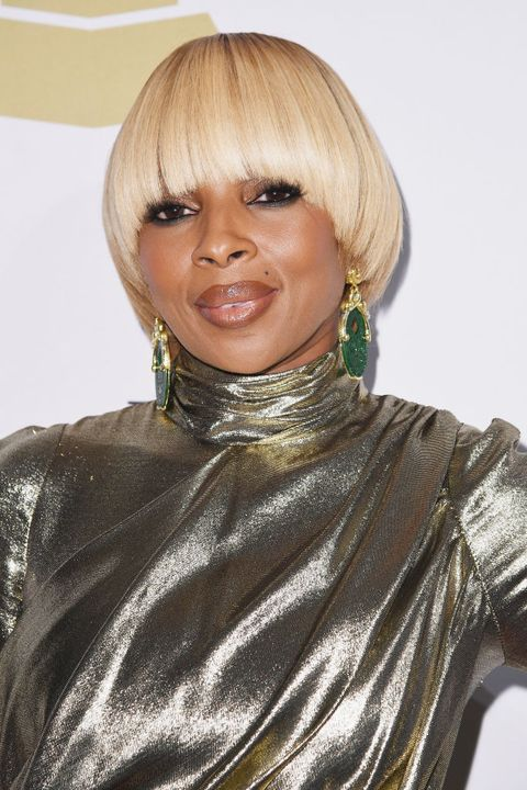 short black hairstyle ideas mary j blige
