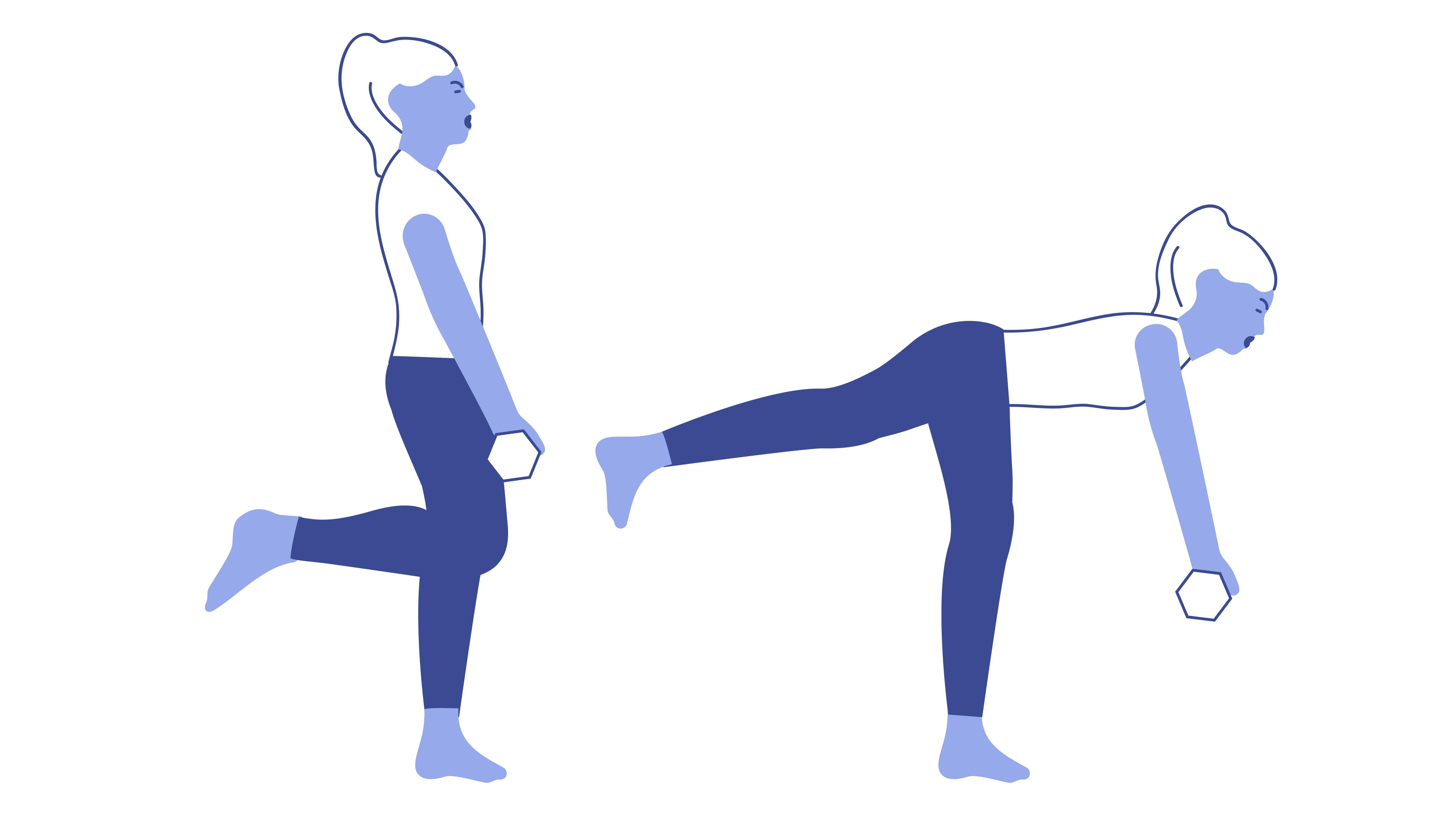Best butt exercises: single-leg deadlift