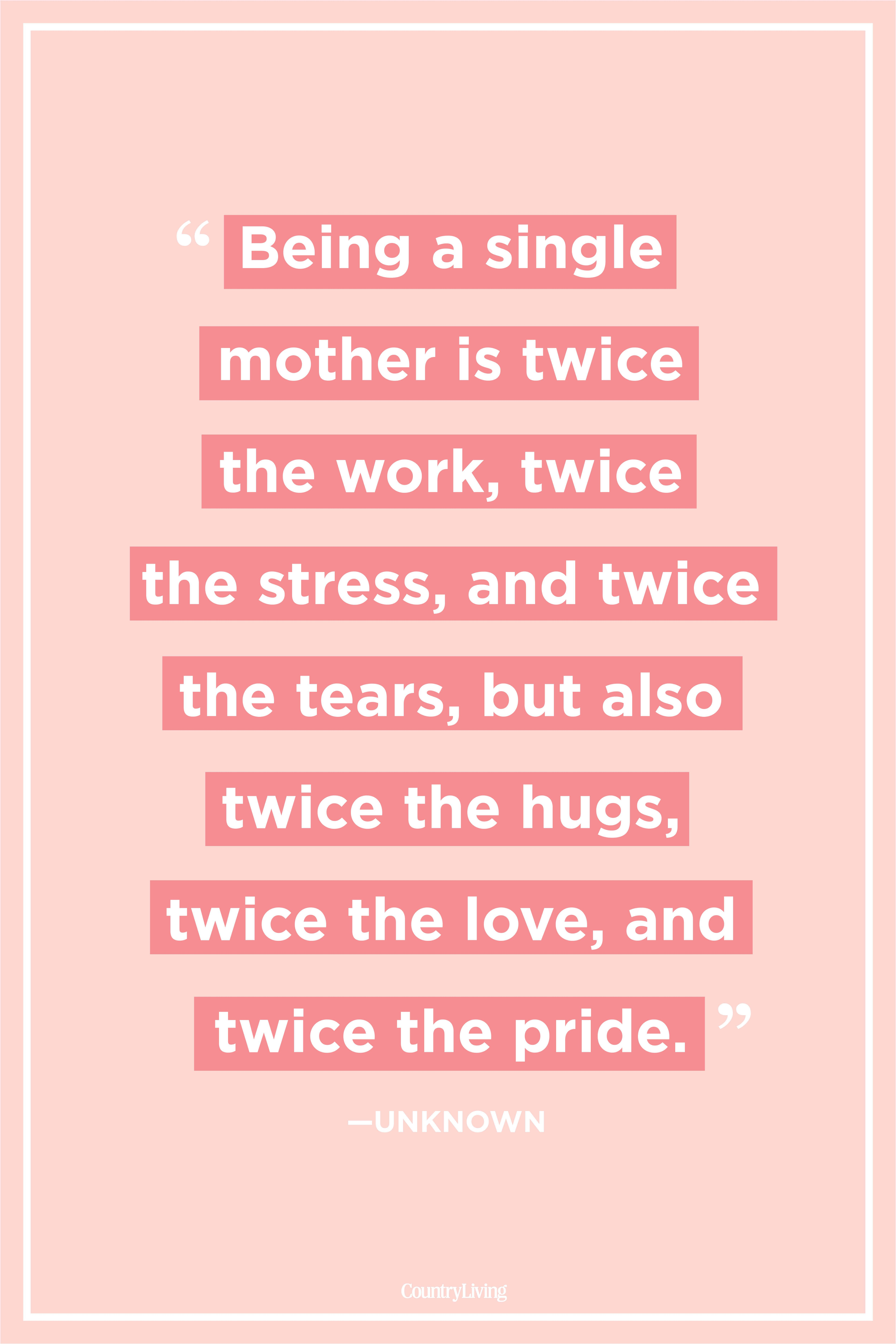 quotes and sayings about single moms