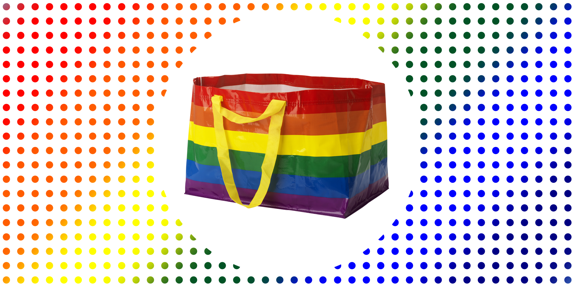 Ikea Releases Rainbow Kvanting Shopping Bag for Pride Month