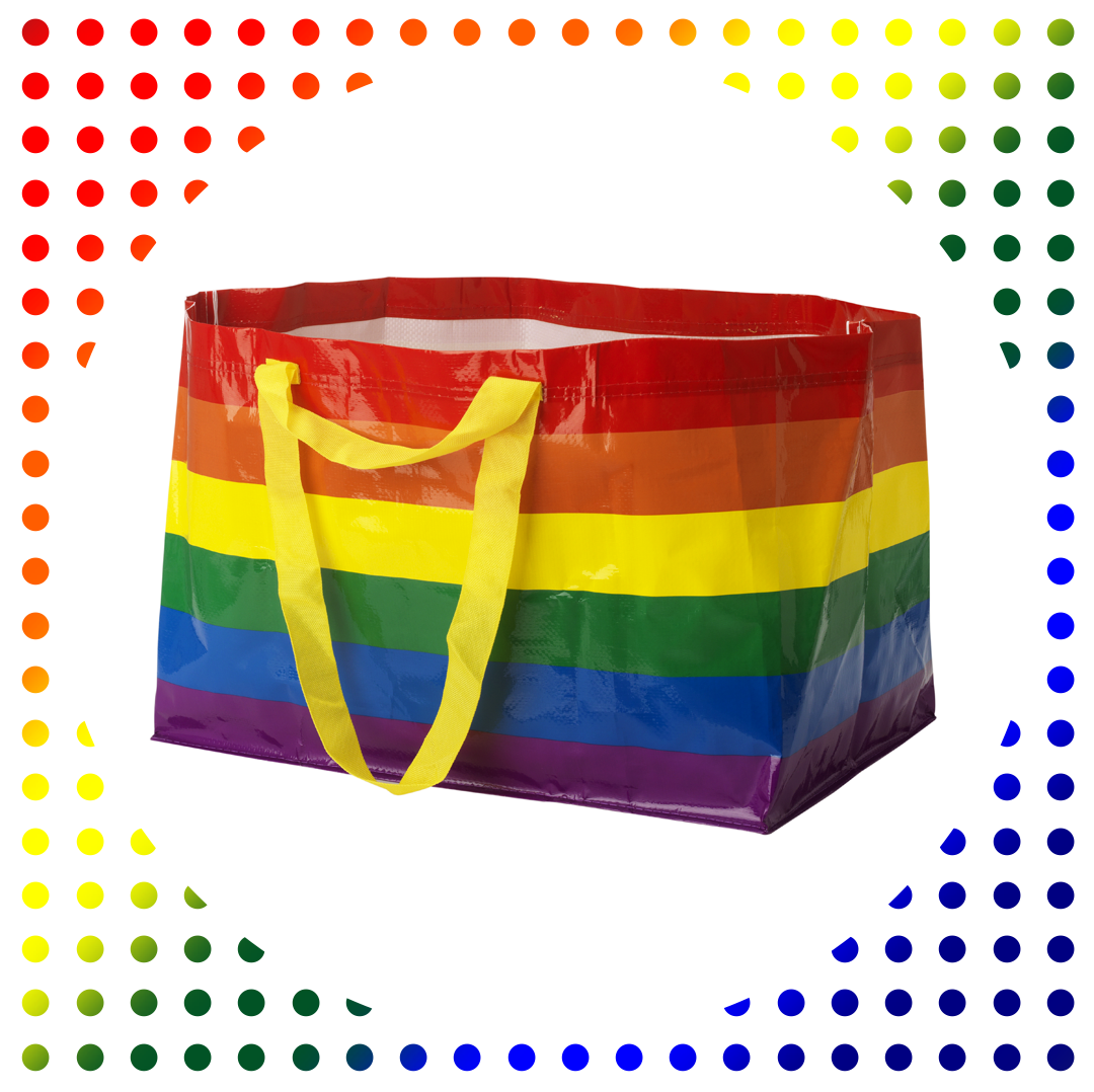 Ikea Turned Its Blue Shopping Bag Into a Celebration of Pride Month
