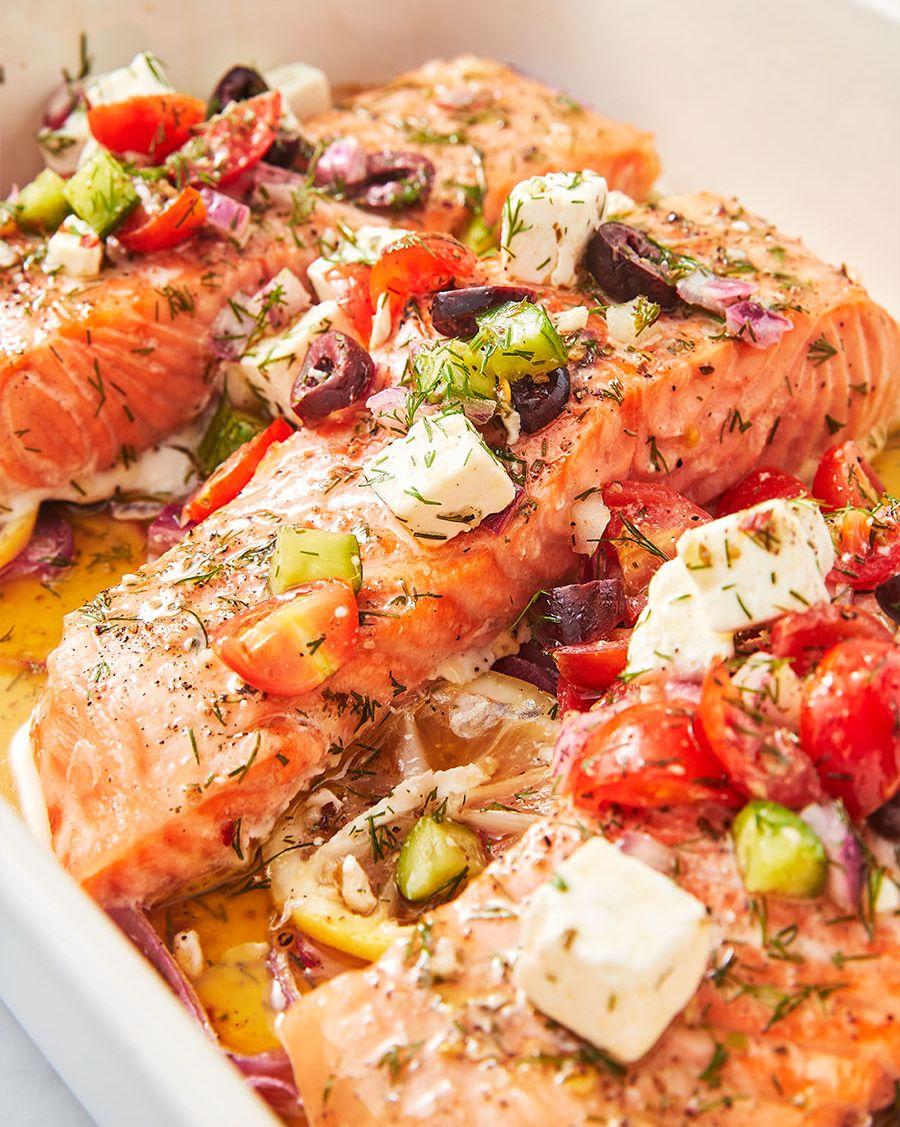 Greek Salmon - Delish.com