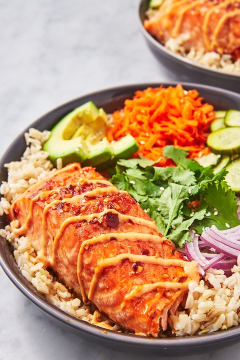 Spicy Salmon Bowl - Delish.com