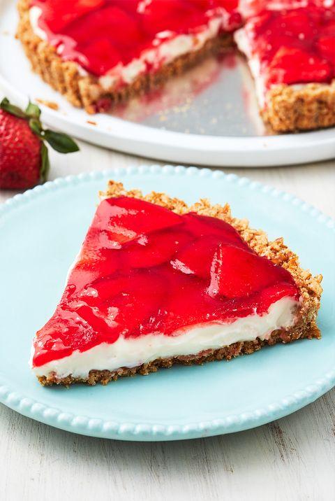 strawberry pretzel tart   delishcom