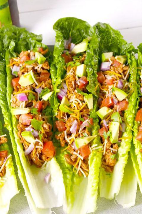 Turkey Taco Lettuce Cups - Delish.com