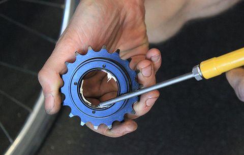A freewheel cog.