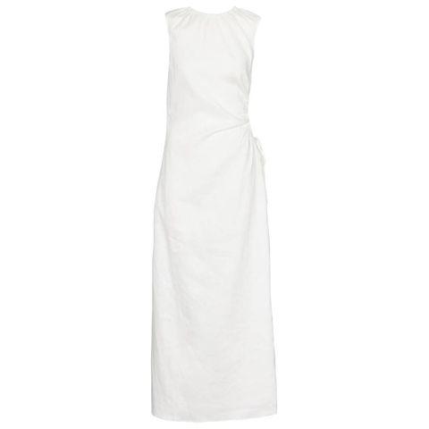 sir blanche cutout linen maxi dress