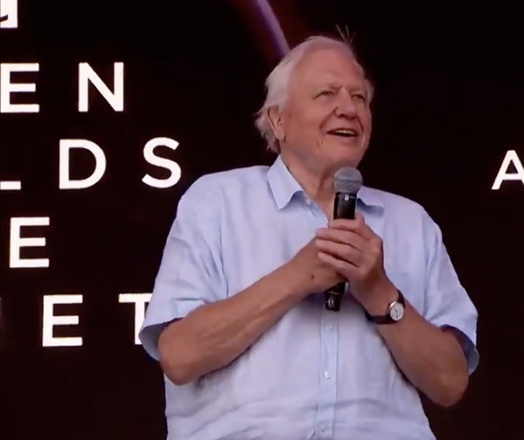 Sir David Attenborough makes Glastonbury appearance to thank the festival for going plastic free