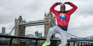 Mo Farah durante la presentación del Maratón de Londres